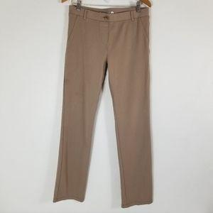 Betabrand Classic Straight Leg Khaki yoga Pant L